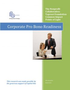 Corporate Pro Bono Readiness Survey Report for Web COVER