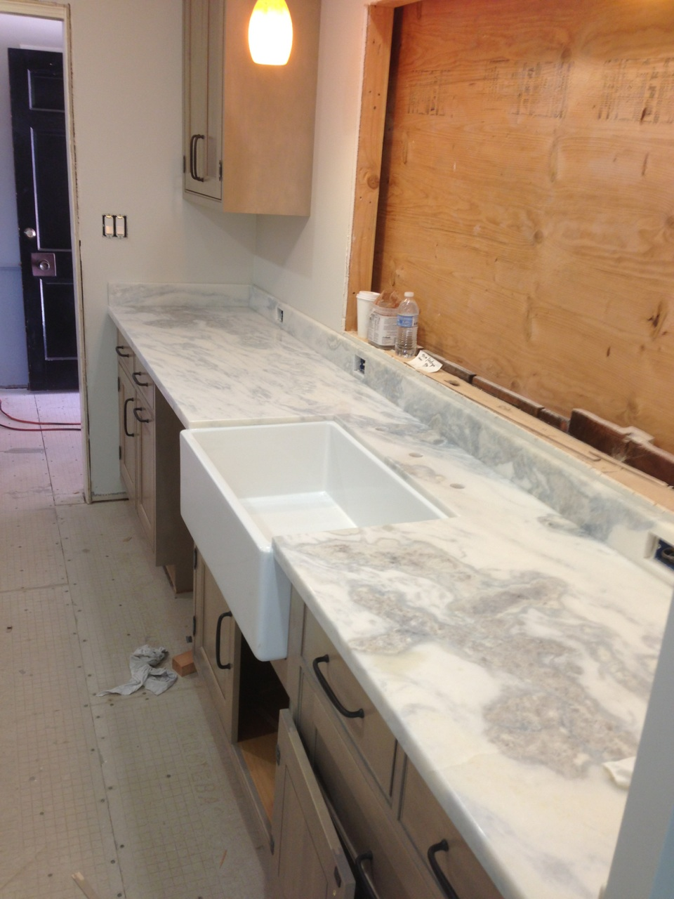 Prefab Quartzite Countertop Installation